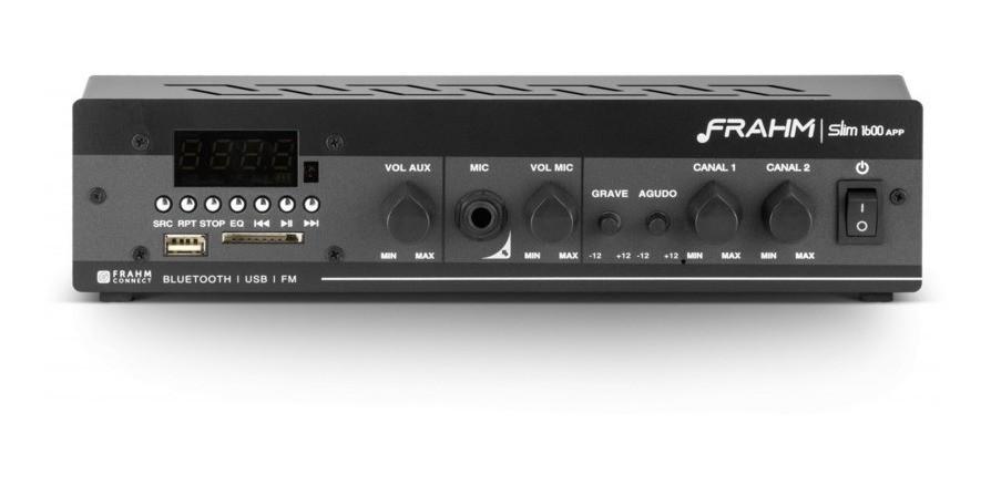 Amplificador Frahm Slim 1600 App Som Ambiente Bluetooth