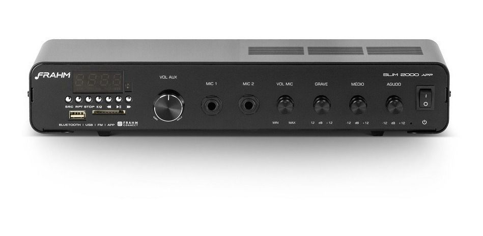 Amplificador Frahm Slim 2500 APP Multi-channel USB SD FM BT