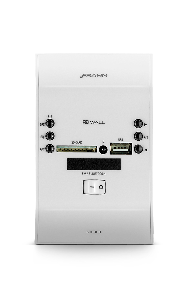 Amplificador Frahm Som Ambiente Slim Wall Branco Usb
