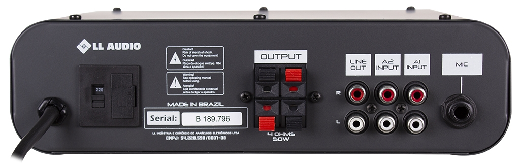 Amplificador Receiver Som Ambiente 50 Watts Nca Sa50 Mono