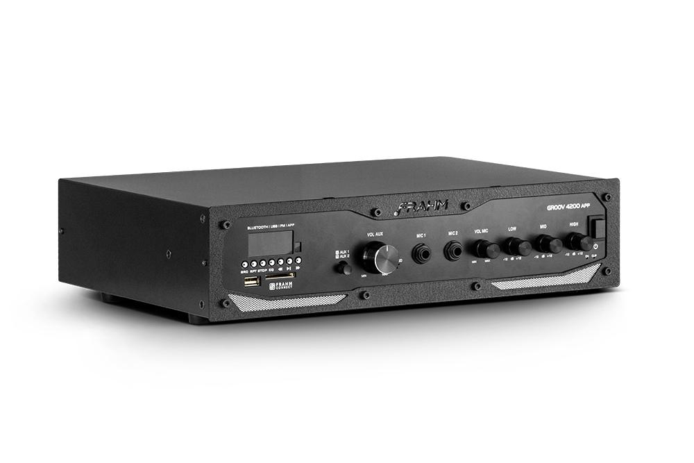 Amplificador Profissional Frahm Gr 4200 App Sd Blu Fm Aux Usb