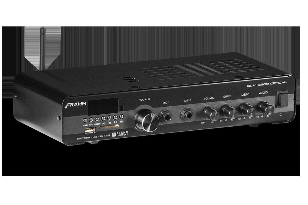 Amplificador Receiver Frahm Slim 2200 Optical G3