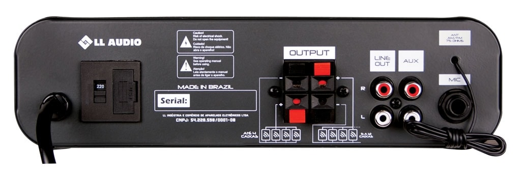 Amplificador Receiver Som Ambiente Usb Bluetooth Nca Sa10