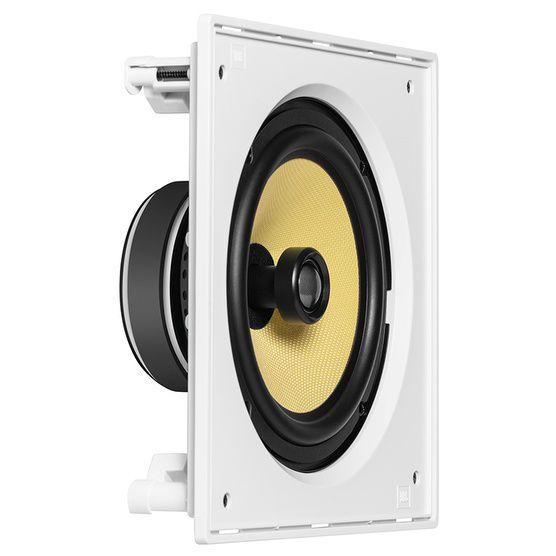 """JBL CI8S - Caixa acústica de embutir quadrada com cone de Kevlar 8"""" - Unidade"""