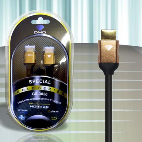 Diamond Cable DMD GS-3020 1.8 Metros - Cabo HDMI 2.0 High Speed com Ethernet 18Gbps 3D 4K ARC - Unidade