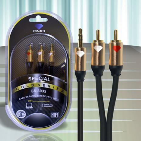 Diamond Cable DMD GS-3035 3 Metros - Cabo de áudio P2/RCA stereo - Unidade