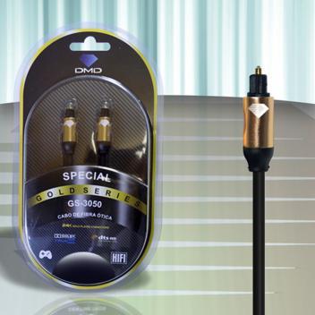 Diamond Cable DMD GS-3050 3 Metros - Cabo de Fibra Ótica Gold Series - Unidade