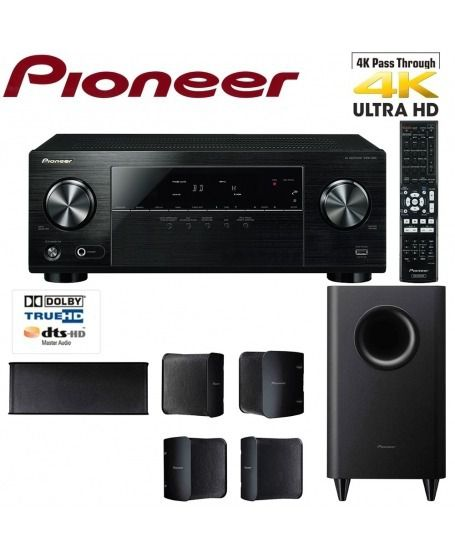 Home Theater Pioneer HTP-074 5.1 600w UHD 4k Bluetooth 127v - Preto