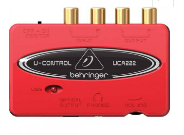 Interface Behringer Uca-222 Usb Pc Mac