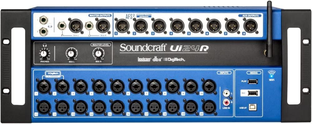 Mesa Som Digital Soundcraft Ui24r 24 Canais