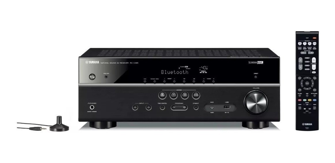Receiver Yamaha Rx-v385 1.4 3d 4k 5.1 Canais