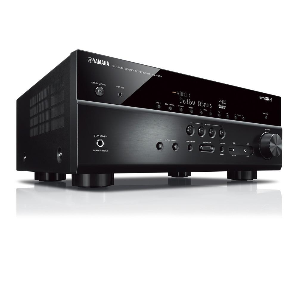 Receiver Yamaha RX-V685 7.2ch Phono Dolby Atmos BT Wi-Fi AirPlay 4K UHD HDR10 Zona 2