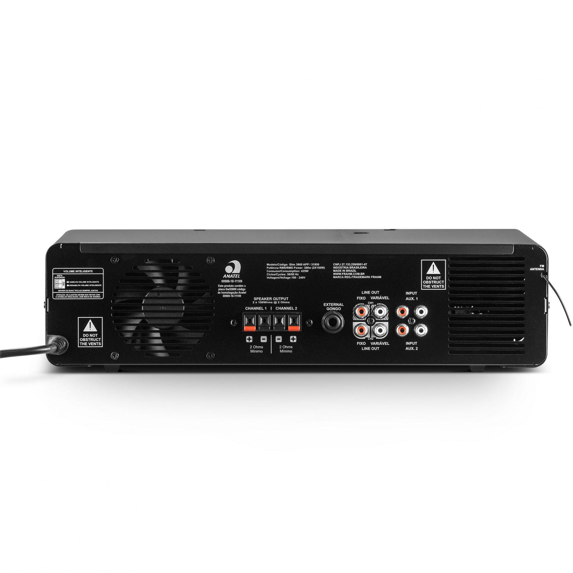 SLIM 3900 APP 2 OHMS - AMPLIFICADOR - NAO AUTOMOTI