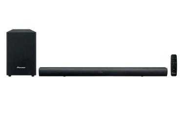 Soundbar 2.1ch Pioneer SBX-101 Dolby Audio Óptico AUX Bluetooth e Subwoofer sem Fio - Bivolt