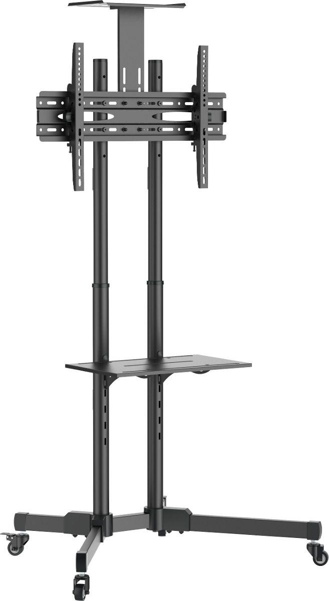Suporte Pedestal com Rodas e Altura Regulável para TVs de 32 a 65 - A06V6_S - ELG