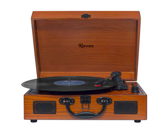 Vitrola Raveo Sonetto Wood 90-08226 Vinil, Bluetooth e USB