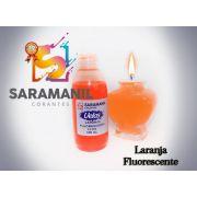 Corante Líq (anilina a óleo) para velas LARANJA 100ml fluorescentes