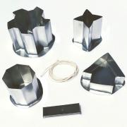 KIT formas p/ velas: casinha/estrela/oitavada/sol