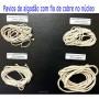 Pavio com fio de cobre no núcleo - 2 metros