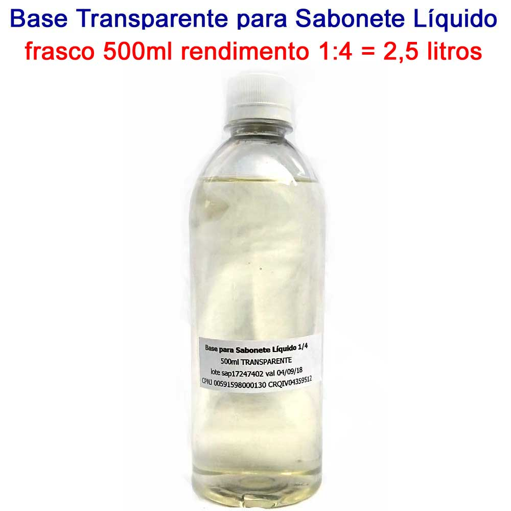 Base para Sabonete Líquido 1:4 (500ml)
