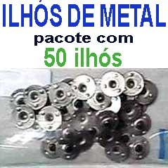 Ilhos de metal zincado - pacotes com 50 e 500 unid.