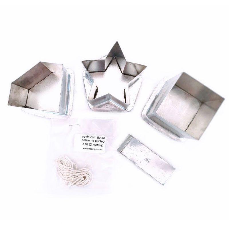 Kit formas para velas 2 (estrela, quadrada, diamante)