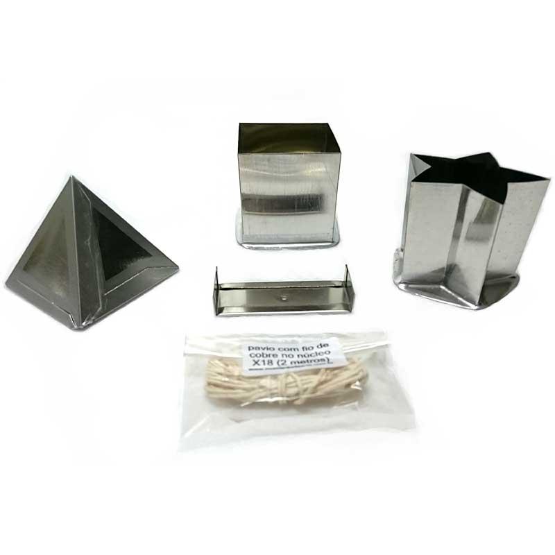 Kit formas para velas 2 (estrela, quadrada, piramide)