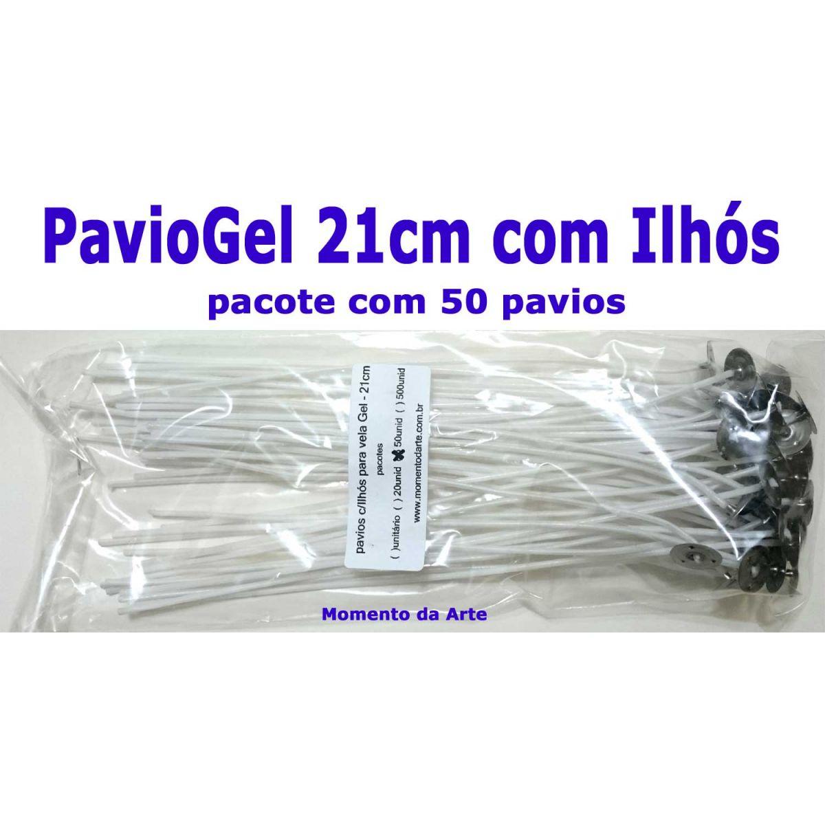 Pavios c/Ilhós para vela Gel - 21cm - pacotes até 500 unid