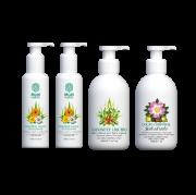 Kit para banho e hidratação corporal - Sabonete Facial, Sabonete Corporal e Loção Corporal
