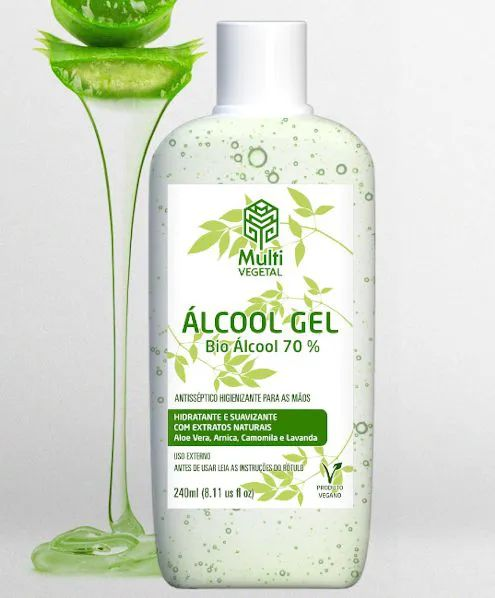 Álcool Gel 70% Multi Vegetal - 240ml