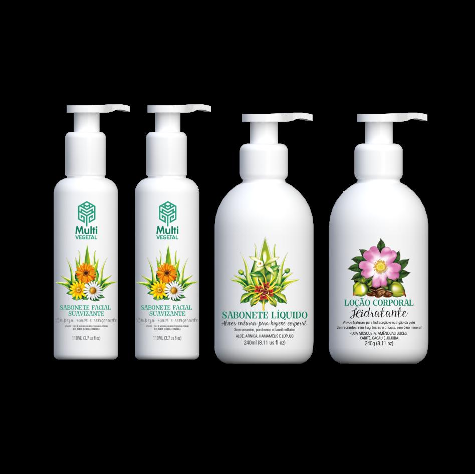 Combo Banho + Hidratação Corporal Multi Vegetal
