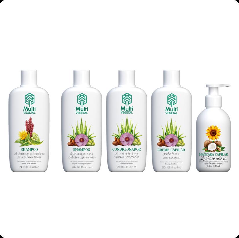 Combo Capilar Limpeza + Fortalecimento + Hidratação profunda Multi Vegetal
