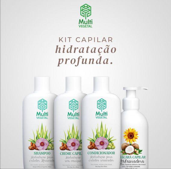 Kit Capilar Hidratação profunda Multi Vegetal