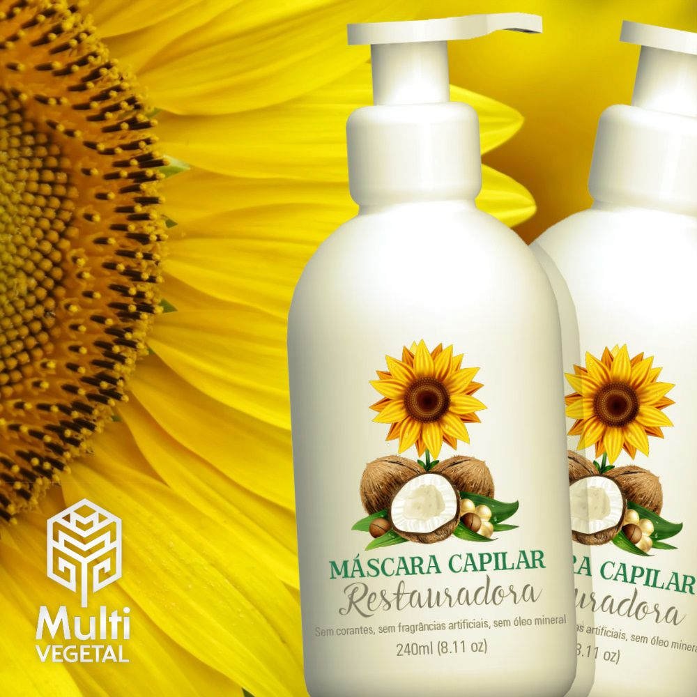 Máscara Capilar Restauradora Multi Vegetal 240ml