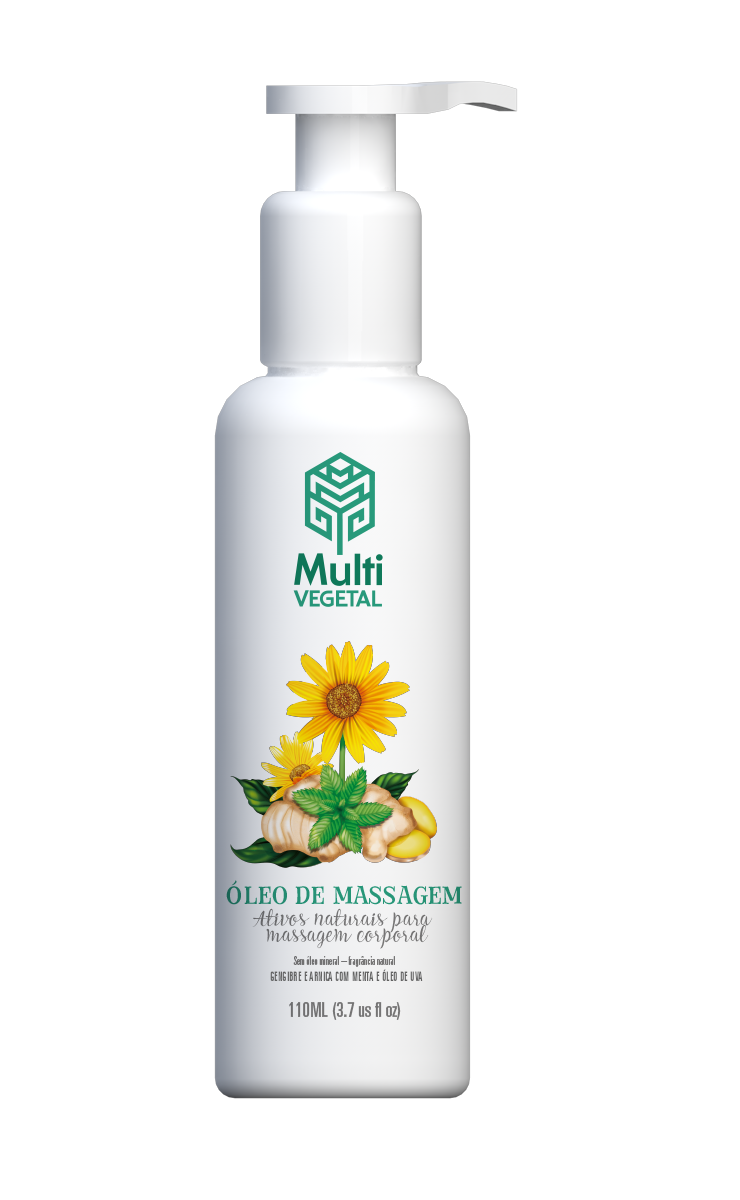 Óleo de Massagem Gengibre e Arnica Multi Vegetal 110ml