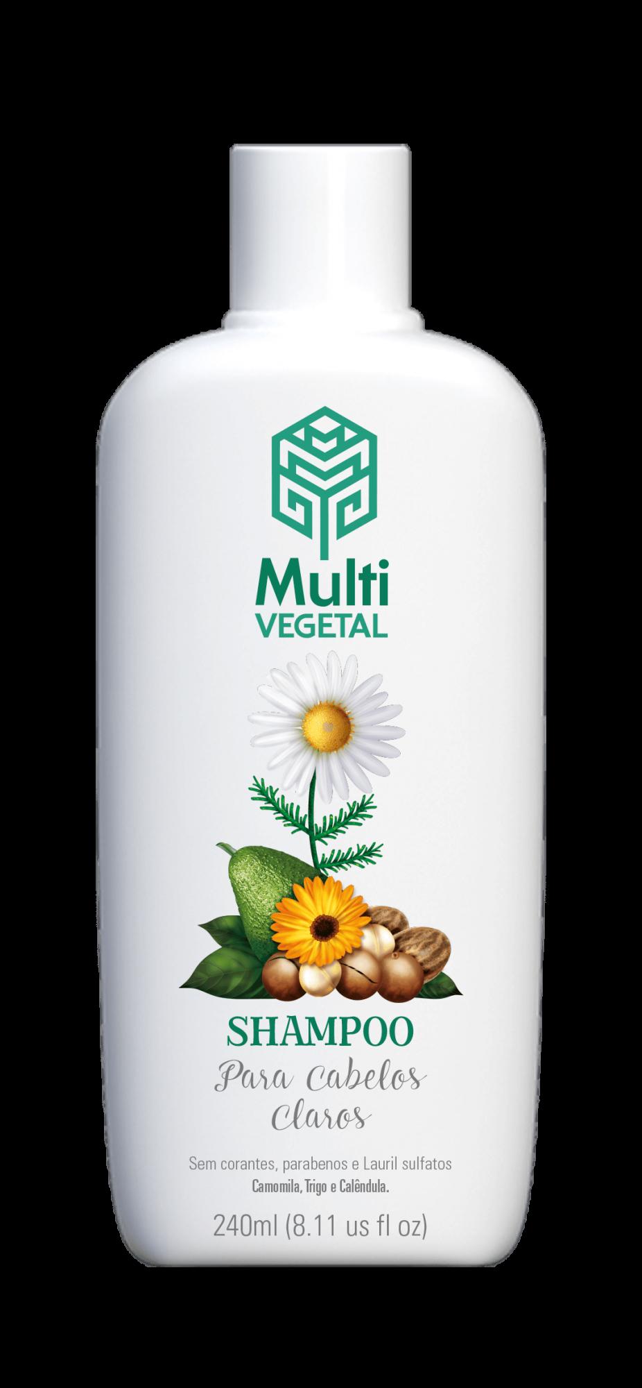 Shampoo de Camomila, Trigo e Calêndula para Cabelos Claros Multi Vegetal 240ml