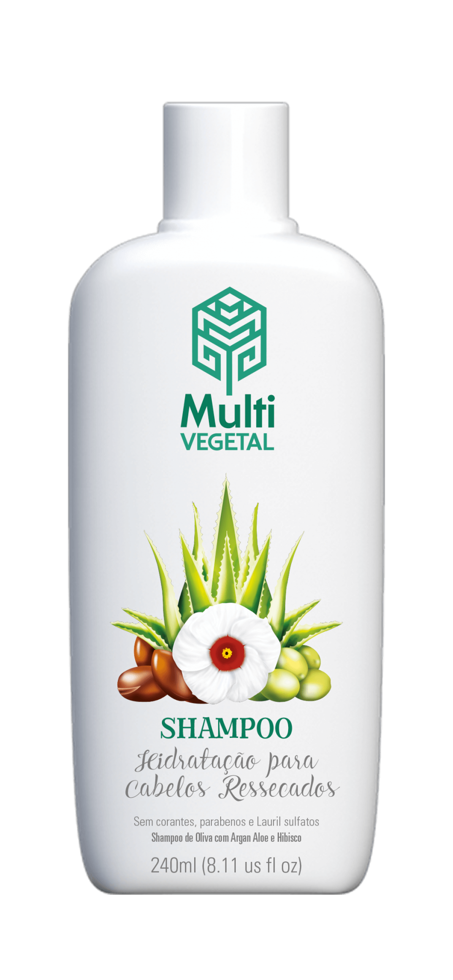 Shampoo de Oliva com Argan Multi Vegetal 240ml
