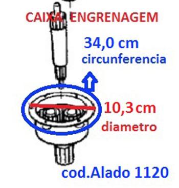 Caixa Engrenagem Lavadora GE/DK/MB 10/11/12/15/15.1 kg Alado 7171120