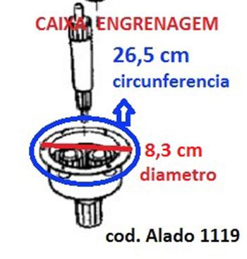 Caixa Engrenagem Lavadora Ge/dk/mb 6/8/10.2 Kg  7171119