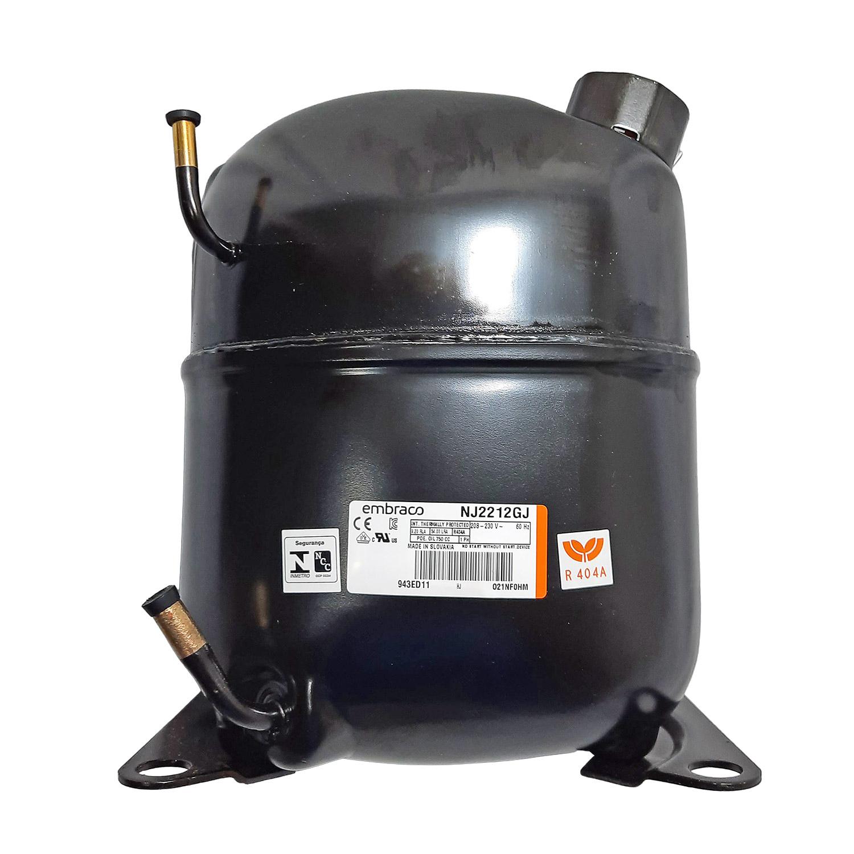 Compressor Embraco 1.1/2hp C/ Cx Lig 220v Baixa R404 Nj2212gj Aspera