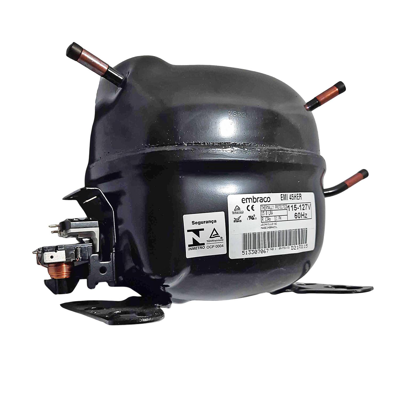 Compressor Embraco 1/8 127v R134 Emi45her