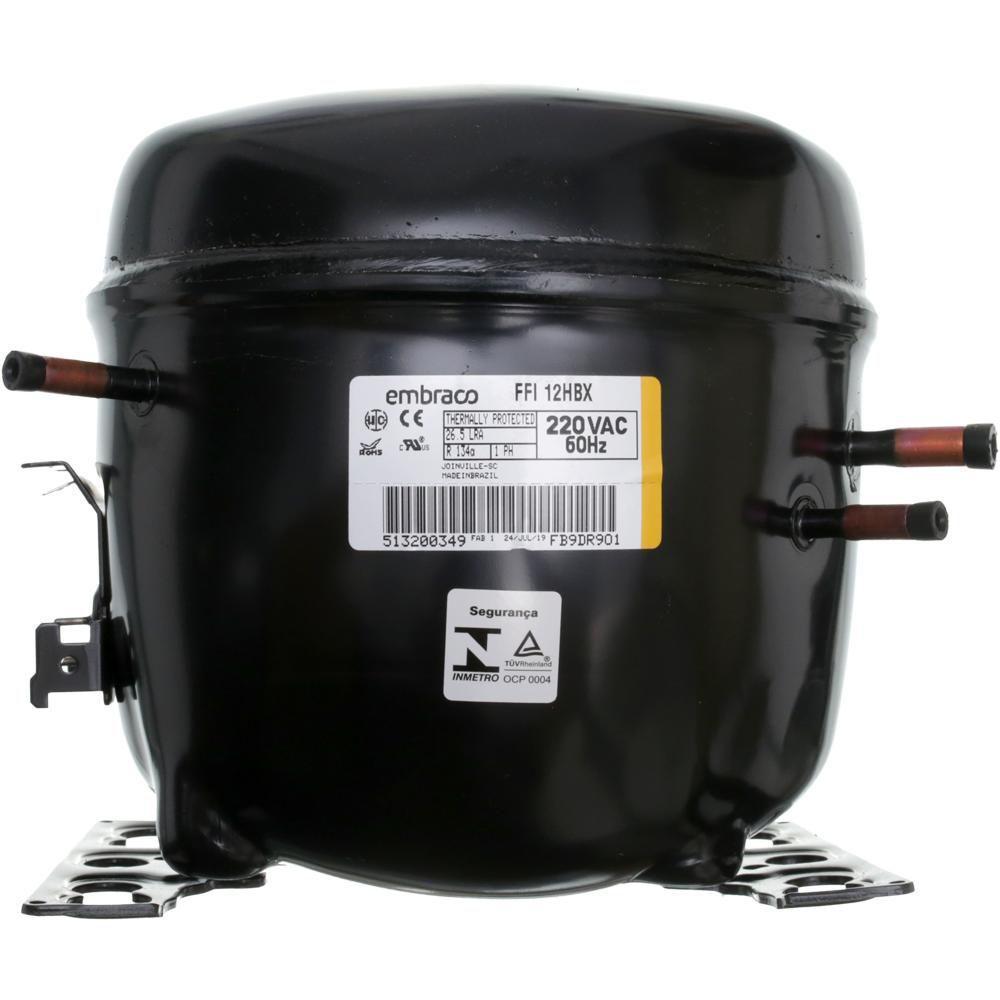 Compressor Embraco Potencia 1/3+ Hp Tensão 220v/60 Gás R134A FFI12HBX
