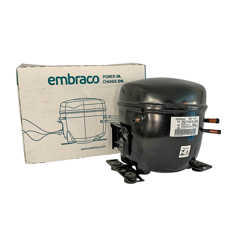 Compressor Embraco Potencia 1/4+ Tensão 127v/60 Gás R134 Mod. EGAS80HLR