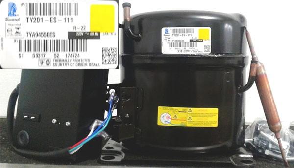 Compressor Tecumseh Potencia 1hp Tensão 220v/60 Gás R22 Mod. TYA9455EES (TY201ES)