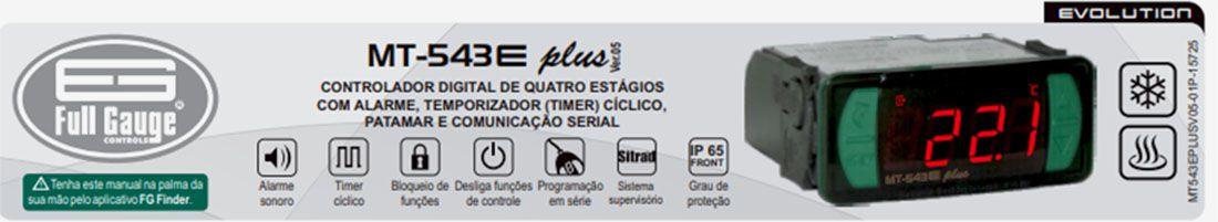Controlador de Temperatura Digital P/ Refrigeração e Degelo Full Gauge MT-543E PLUS