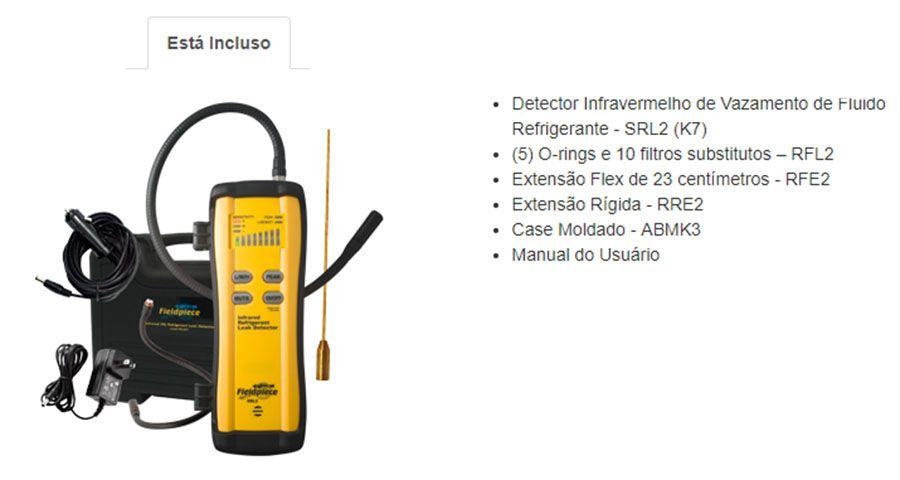 Detector Infravermelho Avançado De Vazamento Refrigeração  Fieldpiece SRL2K7
