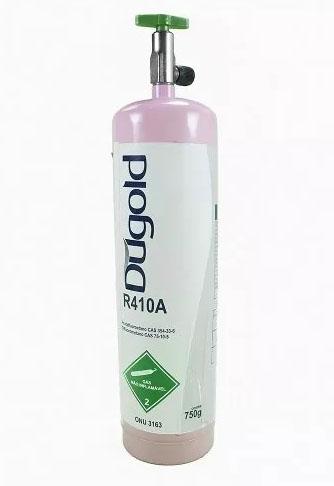 Fluido Refrigerante ou Gás Dugold R410A Onu-3163 Cilindro Lata Com Válvula 750gr