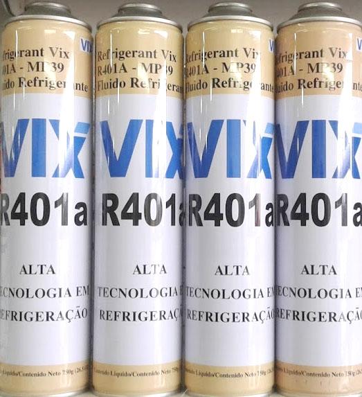 Fluido Refrigerante ou Gás VIX MP39 R401A Cilindro Lata 750gr