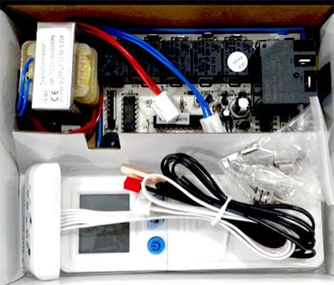 Kit Controle Remoto com Placa Universal Ar Condicionado Split Dugold QD-U03C