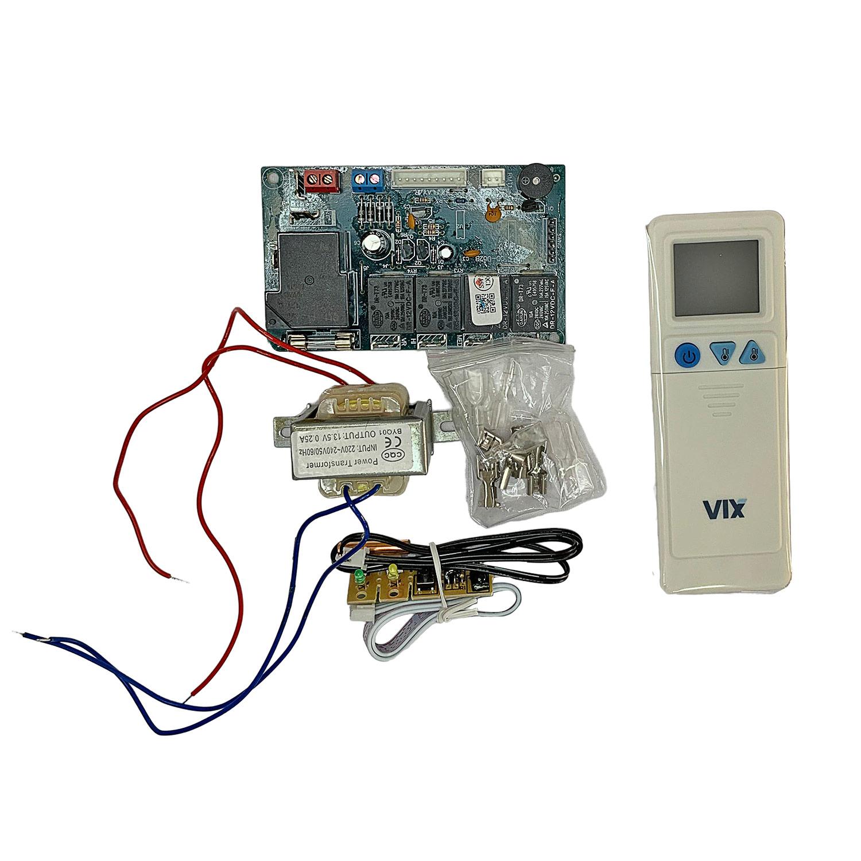 Kit Controle Remoto Com Placa Universal Ar Condicionado Split QD-U02B